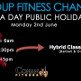 wa day group fitness changes