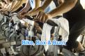 Bike, box and burn fitness class