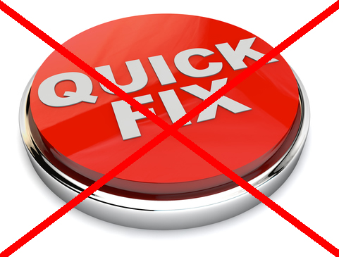 quick fix button