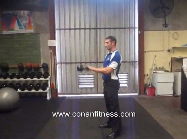 Kettle Bell Swings - Conan Fitness Perth