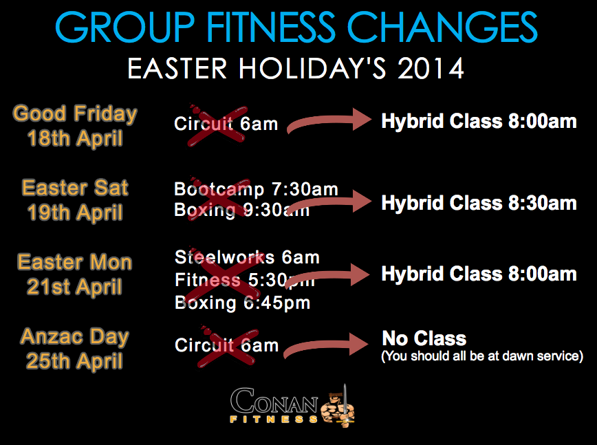 Easter Holiday GF Changes2