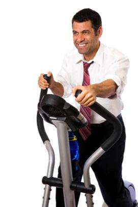 exercising worker