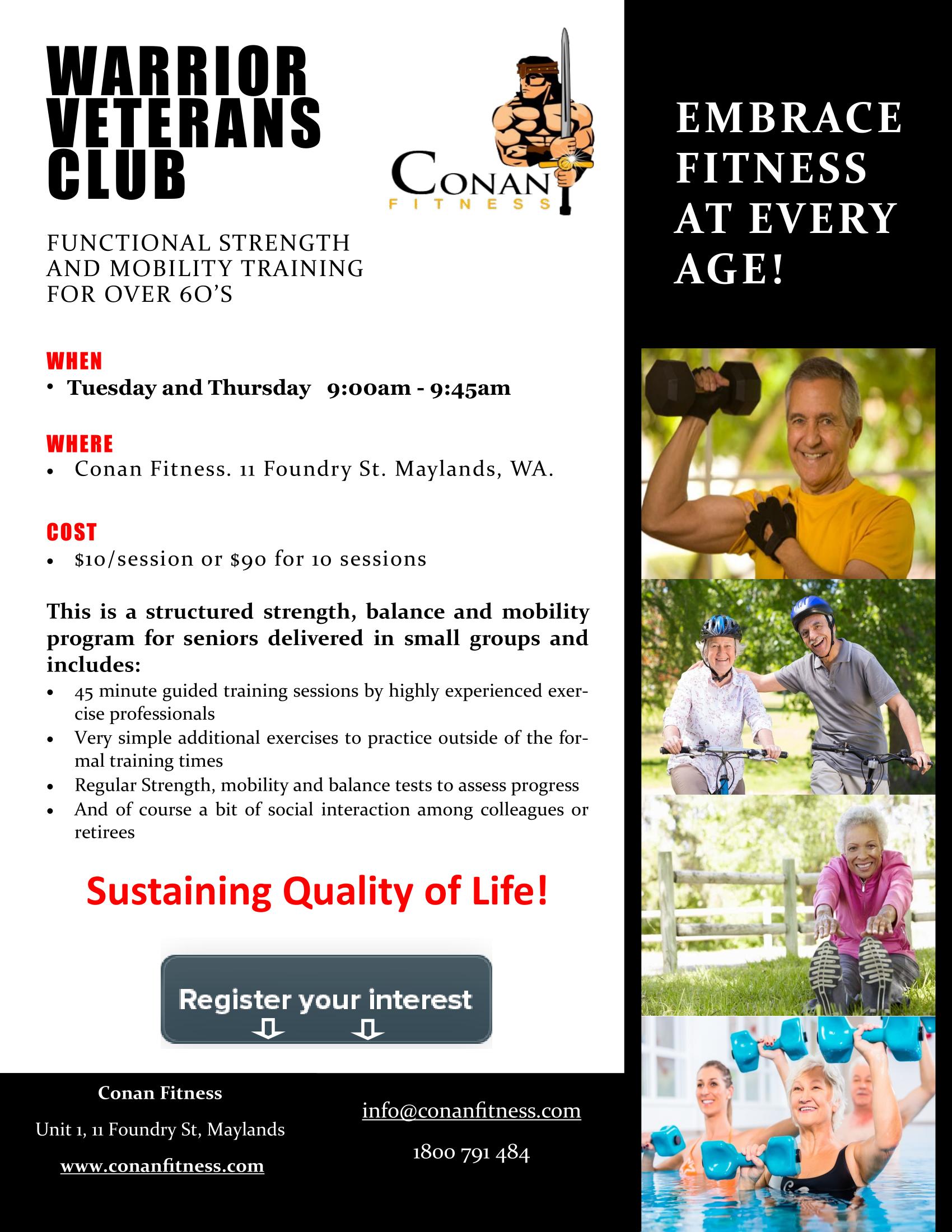 warrior veterans fitness training